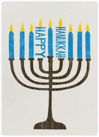 Happy Hanukkah Menorah | tall