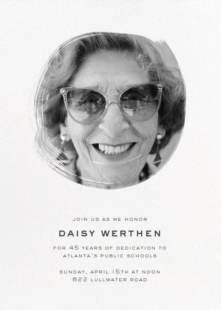 Painted Circle - Paperless Post - Retirement invitations, farewell invitations
