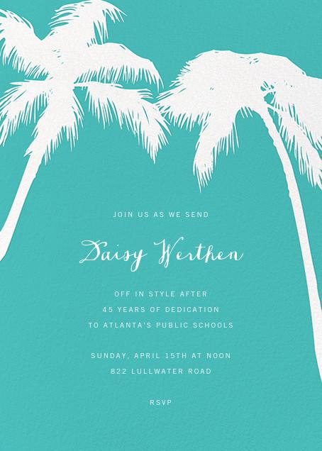 Tropical Palm - Lagoon - Paperless Post - Retirement invitations, farewell invitations
