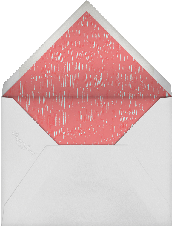 Place Setting (Square) - Red - Paperless Post - Retirement party - envelope back