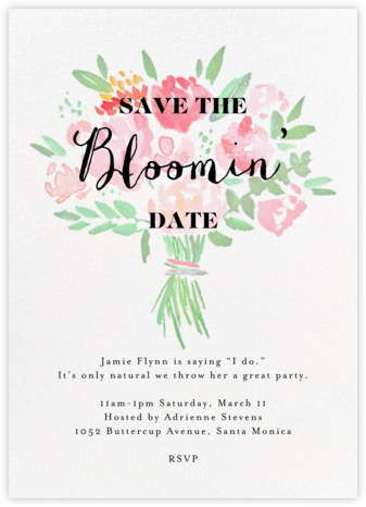 Save the Bloomin' Date - Crate & Barrel -