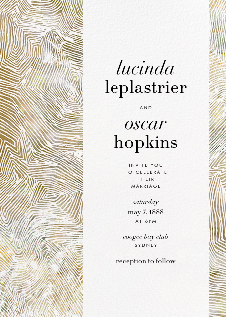 Aria (Invitation) - Sepia - Kelly Wearstler - Kelly Wearstler wedding