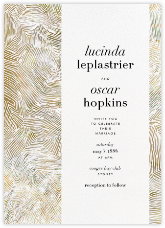 Aria (Invitation) - Sepia - Kelly Wearstler - Modern wedding invitations