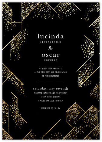Brink (Invitation) - Black - Kelly Wearstler - Wedding invitations