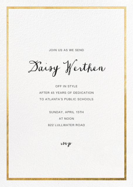 Idylle - White/Gold - Paperless Post - Retirement invitations, farewell invitations