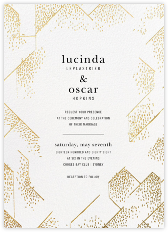 Brink (Invitation) - White - Kelly Wearstler - Wedding Invitations