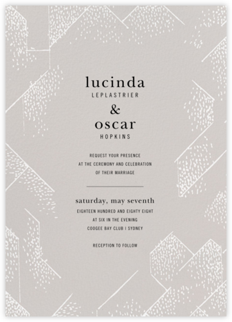 Brink (Invitation) - Oyster - Kelly Wearstler - Wedding Invitations