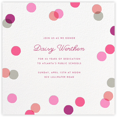 Carnaby - Pink - Paperless Post - Retirement invitations, farewell invitations