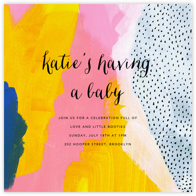 Sundry Strokes - Ashley G - Baby shower invitations