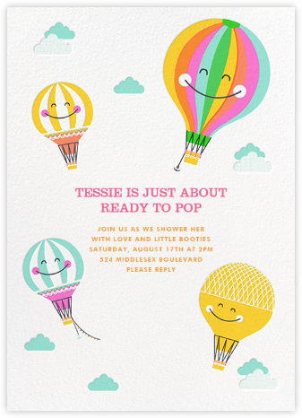 Happy Balloons - Hello!Lucky - Celebration invitations