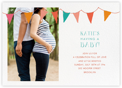 Ticker Tape Baby - Mr. Boddington's Studio - Celebration invitations