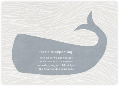 Vintage Whale - Paperless Post - Baby Shower Invitations