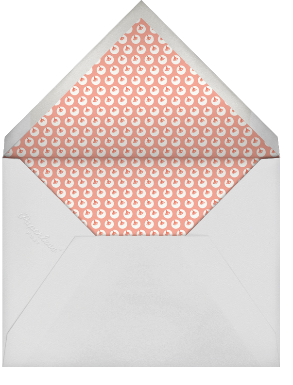 Ticker Tape Baby - Mr. Boddington's Studio - First birthday - envelope back