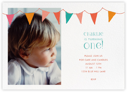 Ticker Tape Baby - Mr. Boddington's Studio - Birthday invitations