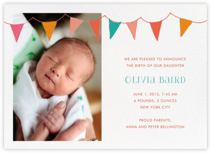 Ticker Tape Baby - Mr. Boddington's Studio - Birth announcements