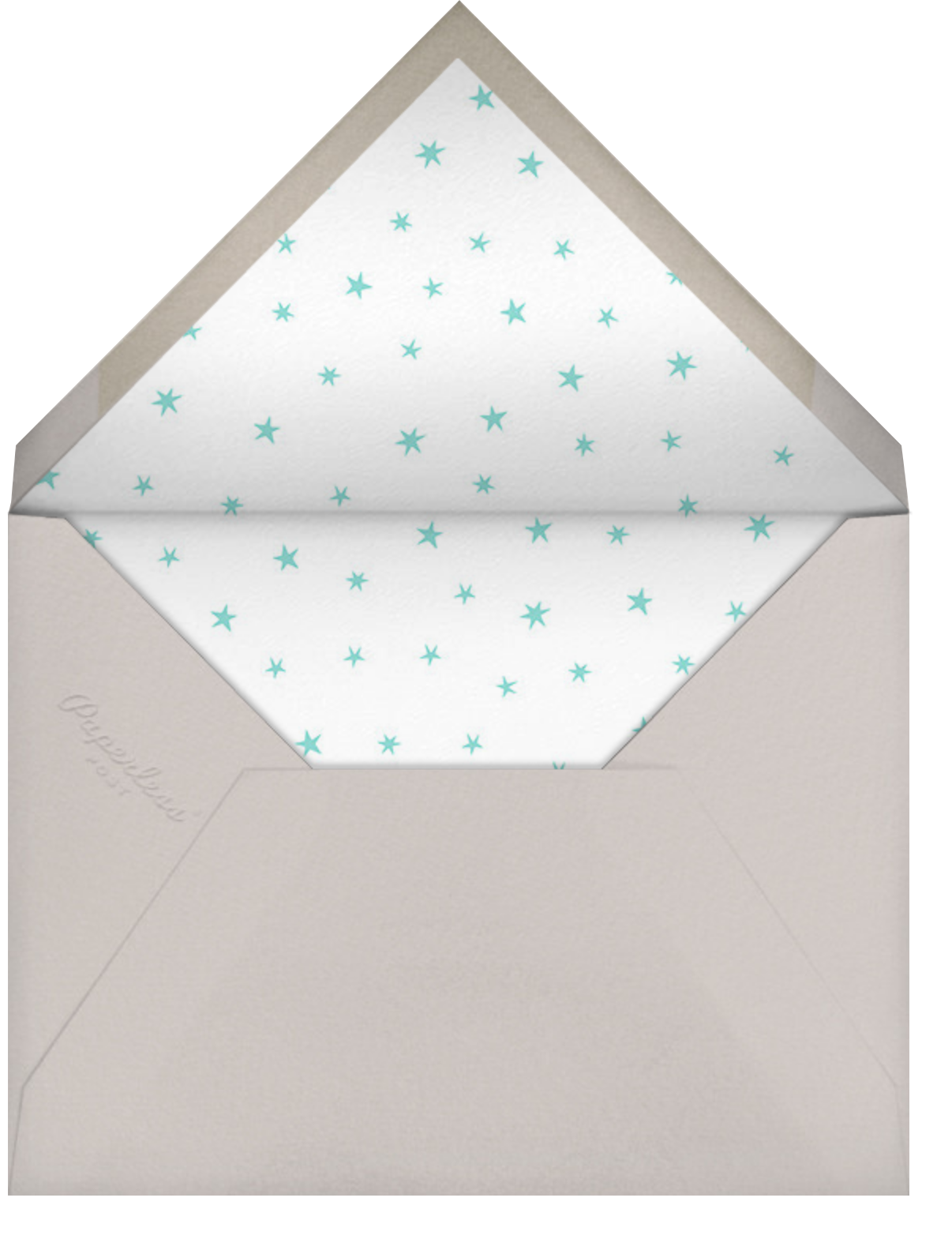 Starry Elephant - Blue - Hello!Lucky - Designs we love - envelope back