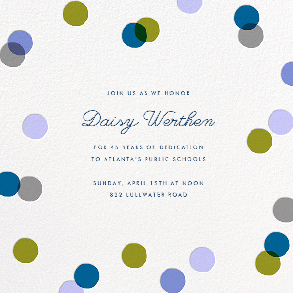 Carnaby - Blue - Paperless Post - Retirement invitations, farewell invitations