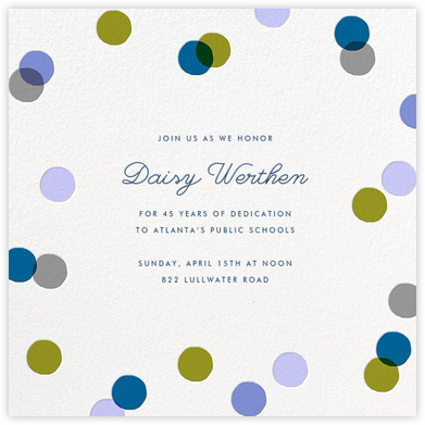 Carnaby - Blue - Paperless Post - Retirement Invitations