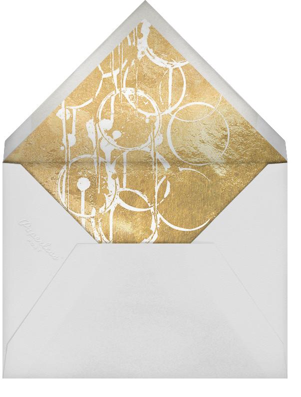 Bottle Shock - Gold - Kelly Wearstler - Retirement party - envelope back