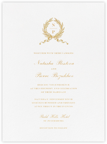 Palaestra (Invitation) - Crane & Co. - Online Wedding Invitations