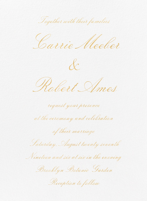 Manutius (Invitation) - Paperless Post - Modern wedding invitations
