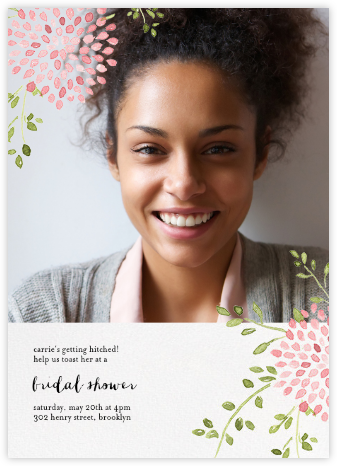 Dahlias (Photo) - Pink - Paperless Post - Bridal shower invitations