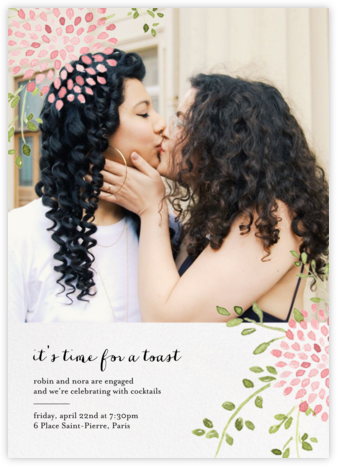 Dahlias (Photo) - Pink - Paperless Post - Engagement party invitations