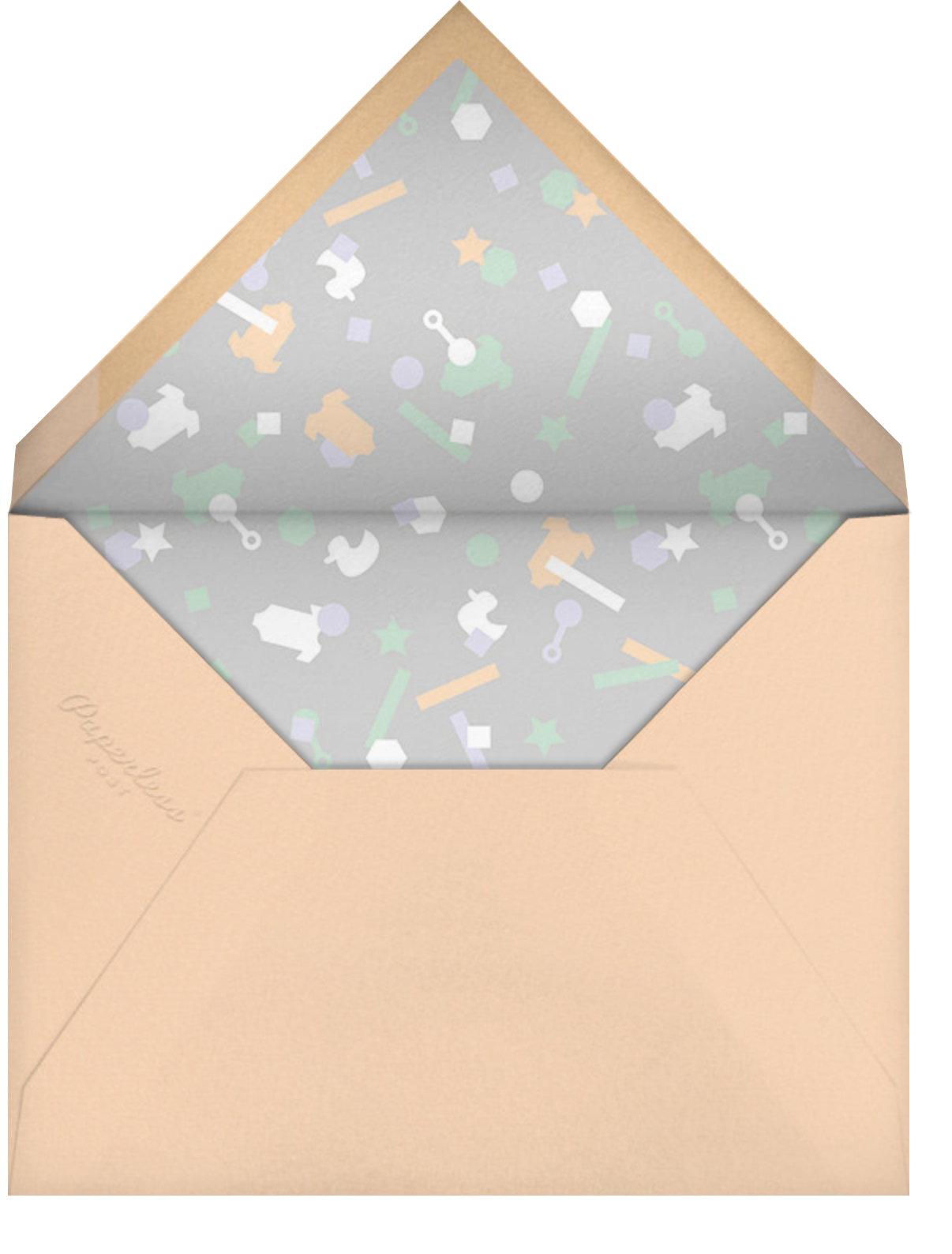Idylle (Photo)  - Silver - Paperless Post - Baby shower - envelope back