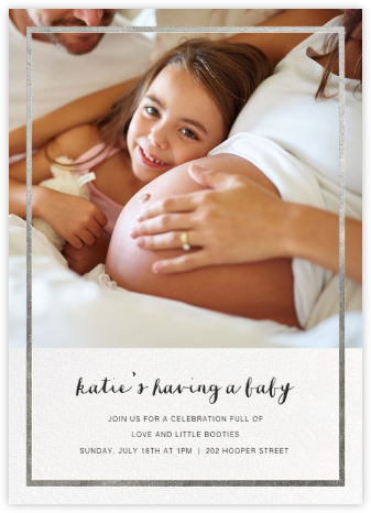 Idylle (Photo)  - Silver - Paperless Post - Baby Shower Invitations
