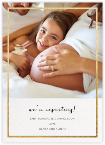 Idylle (Photo)  - Gold - Paperless Post - Birth Announcements