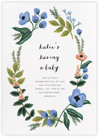 August Herbarium - Rifle Paper Co. - Online Baby Shower Invitations
