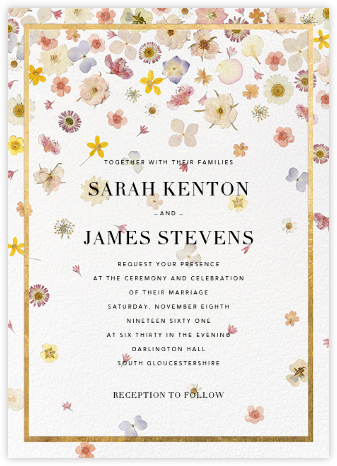 Vincennes (Invitation) - Gold - Paperless Post - Romantic wedding invitations