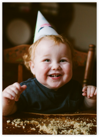 Full-Page Photo (Double-Sided) - Paperless Post - First Birthday Invitations