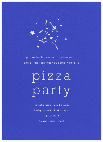 Universe Tall - Paperless Post - Birthday invitations