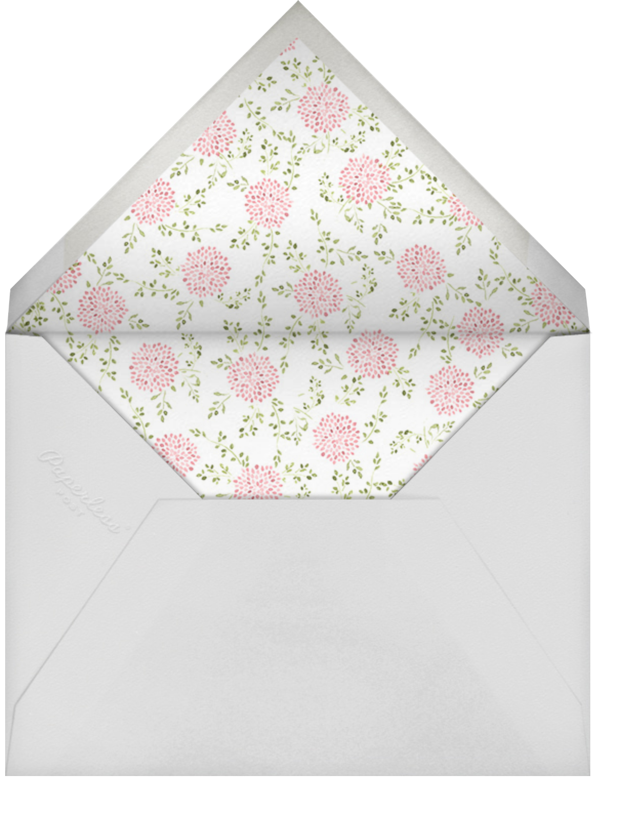 Dahlias (Photo) - Pink - Paperless Post - Baby shower - envelope back
