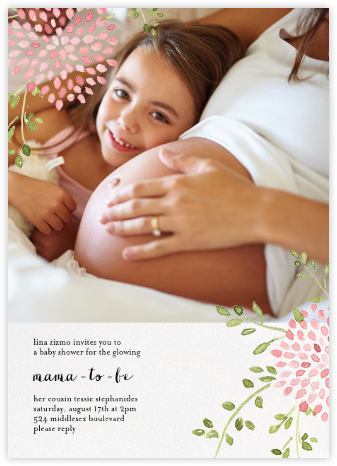 Dahlias (Photo) - Pink - Paperless Post - Baby Shower Invitations