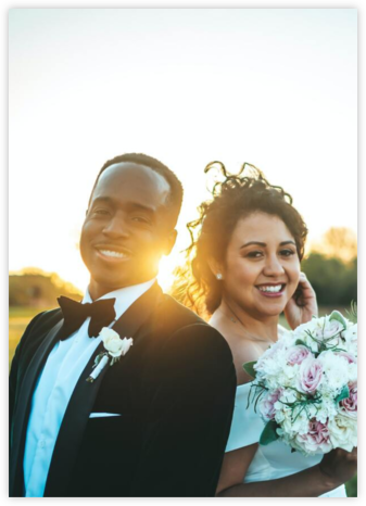 Full-Page Photo (Double-Sided) - Paperless Post - Wedding Announcements