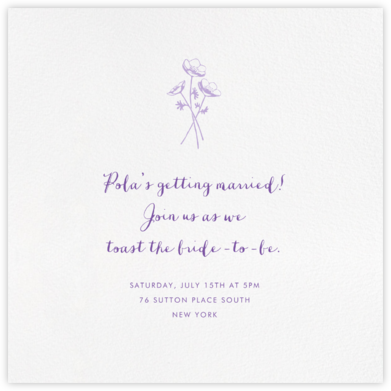 White (Square) - Paperless Post - Bridal shower invitations