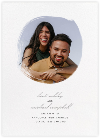 Painted Circle - Paperless Post - Wedding Announcements