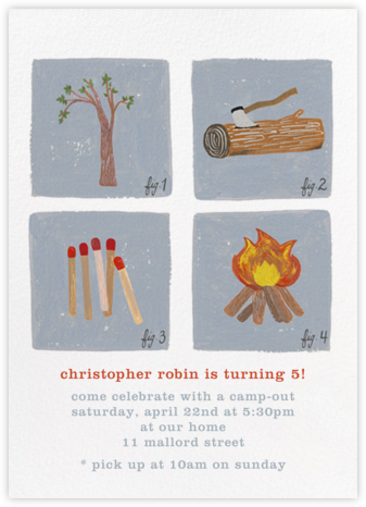 How to Build a Fire Invitation - Paperless Post - Kids' birthday invitations