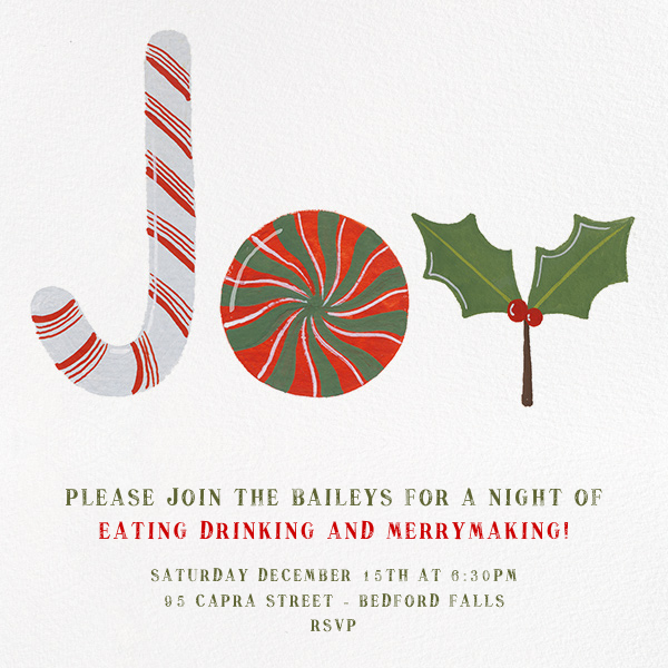 Joy to the World of Sweets - Paperless Post - Invitations