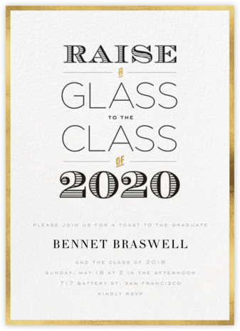 A Glass to the Class - Gold - bluepoolroad - bluepoolroad invitations