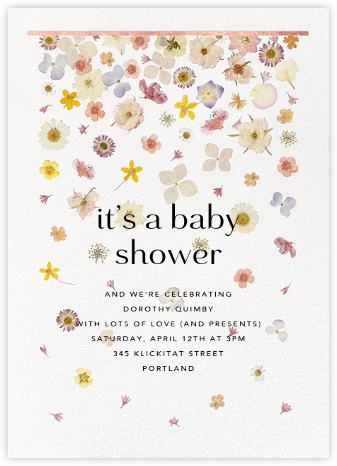 Vincennes - Rose Gold - Paperless Post - Baby Shower Invitations