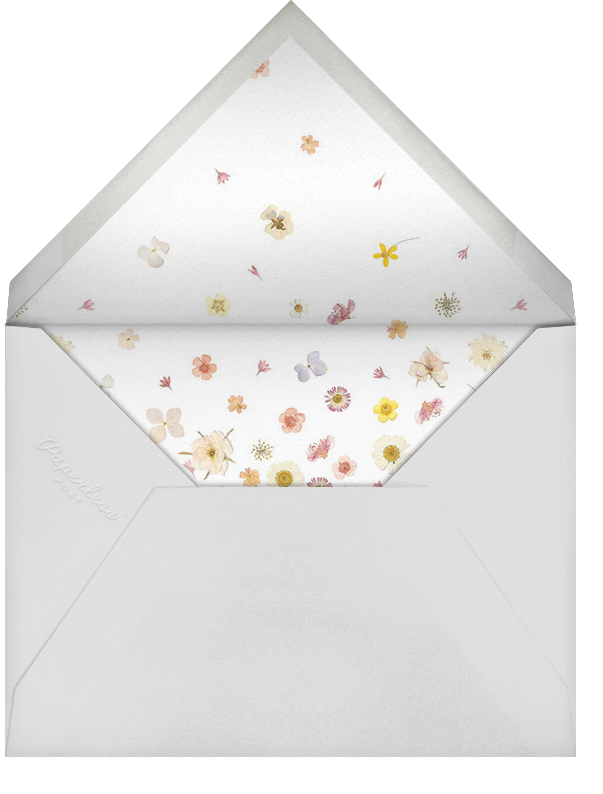 Vincennes - Gold - Paperless Post - Baby shower - envelope back