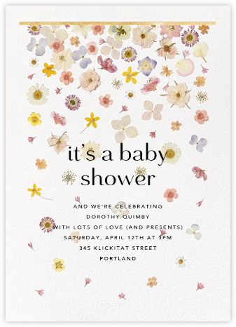 Vincennes - Gold - Paperless Post - Baby Shower Invitations