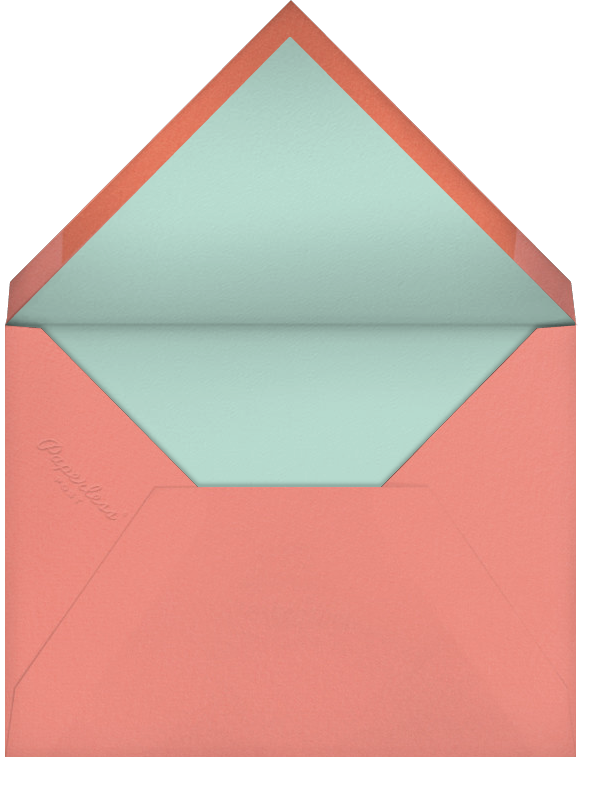 Featured Thanks - Celadon/Papaya - Paperless Post - Graduation thank you cards - envelope back