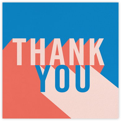Featured Thanks - Electric Blue/Meringue - Paperless Post - Online Thank You Cards