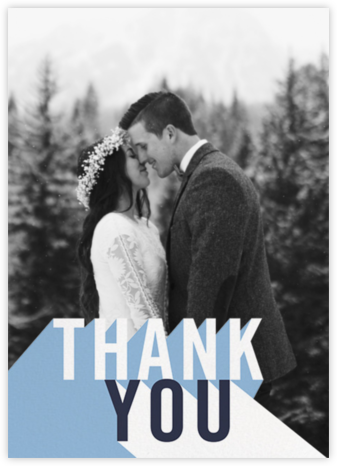 Featured Thanks (Photo) - Spring Rain - Paperless Post - Thank you cards