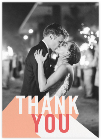 Featured Thanks (Photo) - Sherbet - Paperless Post - Online Thank You Cards