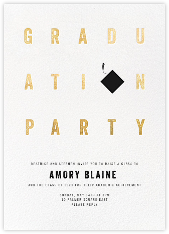 Degree in Letters - Paperless Post - Graduation Party Invitations